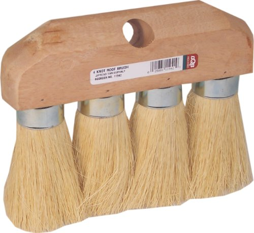 DQB Industries  8-1/4-Inch White Tampico 4-Knot Ferrule Roof Brush (Coating Brush Roof)