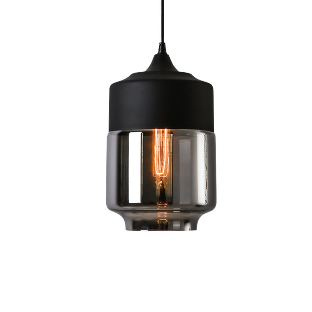 ZYANZ- Creative Personality Industrial Style Coffee Shop Bar Glass Chandeliers (E27 Lighting Interface) Retro Bedroom Aisle Single Head Lamps