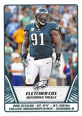 save off 59eb3 35df7 Amazon.com: 2019 NFL Stickers Collection #332 Fletcher Cox ...