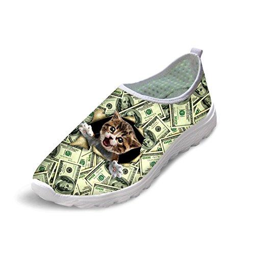 Bigcardesigns Mujeres Animal Cat Dog Zapatillas De Deporte Sneakers Lightweight Cat 2