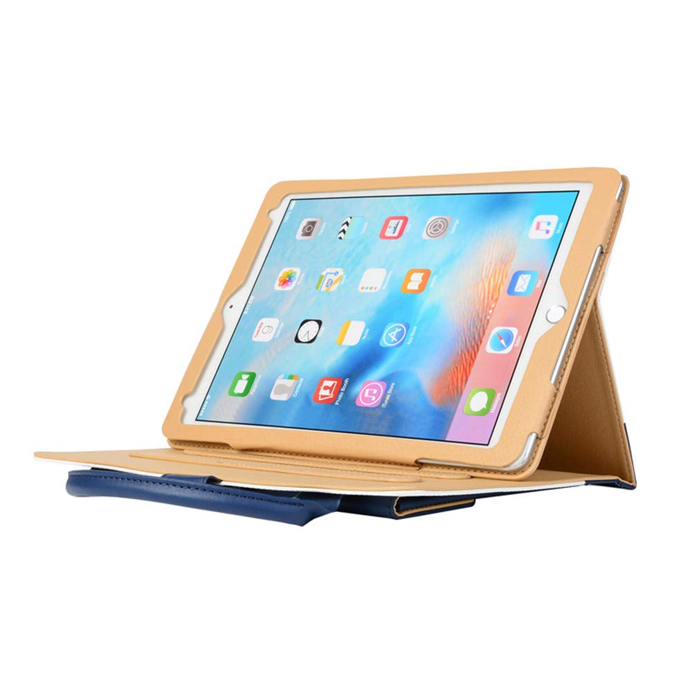 Jennyfly 12.9 inch 2018 iPad Case, Hands-Free Stand Handbag Cover Full Body Protective Business Case Corner Protection Smart Cover with Auto Sleep/Wake Feature for 2018 New iPad Pro 12.9 - Blue by Jennyfly (Image #2)