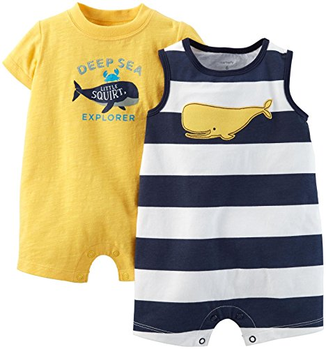 Carter's Baby Boys' 2 Pack Rompers (Baby) - Yellow - 24 Months
