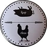 dishwasher magnet farm - Dishwasher Magnet Clean Dirty Sign- 2.5