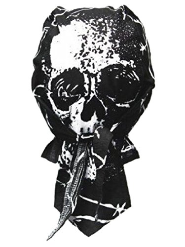 Bandana motif tête de mort avec fils casquette