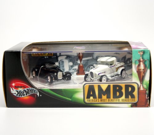 Chip Foose's 0032 & George Barris' ALA KART * Limited Edition * Hot Wheels 2002 AMBR (AMERICA'S MOST BEAUTIFUL ROADSTERS) 1:64 Scale 2-Car Box Set