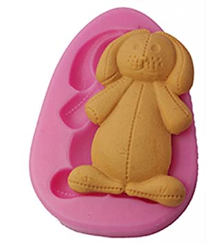 c5a9acf5b5 Image Unavailable. Image not available for. Color  FOUR-C Silicone Cupcake  Top Mold Bear Fondant Mould Color Pink