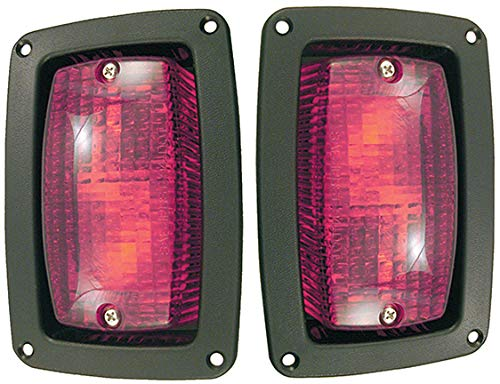 Taillights with Bezels, LED, Club Car DS, Yamaha E-Z-Go