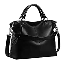 Heshe Women's Shoulder Handbag Top-handle Bag Cross Body Purse Satchel