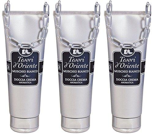 "Tesori d'Oriente: ""Muschio Bianco"" White Musk Shower Cream * 8.45fl.oz (250ml) Packages (Pack of 3) * [ Italian Import ]"