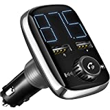 2 knob car radio - (New Version) Bluetooth FM Transmitter, Sumind Wireless Car Radio Adapter Bluetooth 4.2 Receiver, Dual-USB Charger with 5 V/ 3.4 A Output, Hands-Free Calling, U-disk/ TF Card/ AUX MP3 Player Car Kit