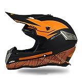 Woljay Dual Sport Off Road Street Motorcycle helmet Dirt Bike ATV DOT Certified (XXL, Black)