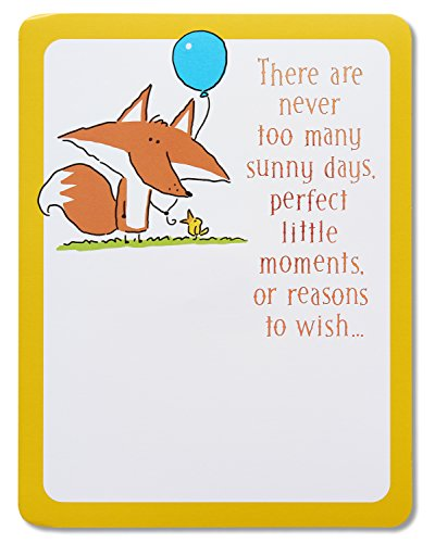 Fox Paper (American Greetings Card Cardstock Paper, Fox Birthday with Music (5760185))