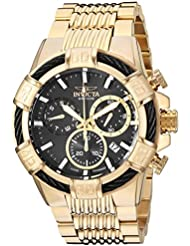 Invicta Mens Bolt Quartz Stainless Steel Casual Watch, Color:Gold-Toned (Model: 25867)