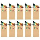 Ensemble de 10 Boites de Crayon Pastel Cire - Sac Fête Enfant / Faveur Mariage