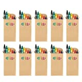 eBuyGB Colouring Wax Crayons - Kids Party Bag / Loot Toy Wedding Favour (Pack of 10)