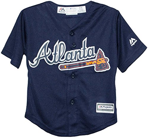 Majestic Athletic Atlanta Braves Alternate Navy Cool Base Toddler Jersey