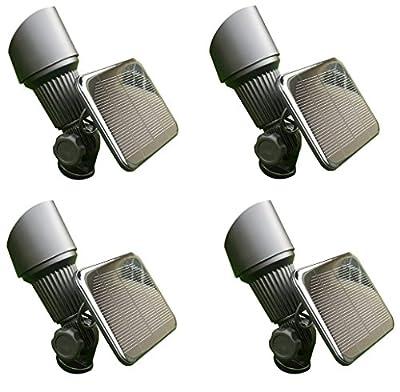 GBT8082 - 4 Piece Residential LED Solar Spotlight Landscape Lighting Kit with Stakes