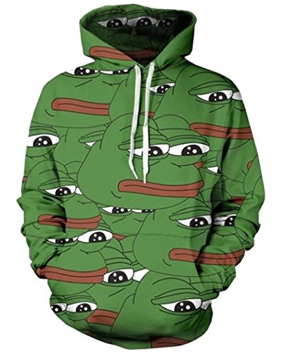 t Frog 3D Print Pullovers Hoodies Clothing Hombre ()