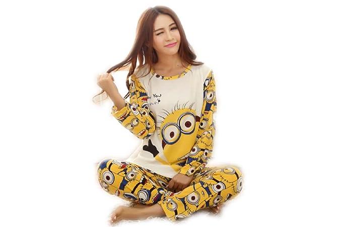 PJ pijama amantes pyjama Camisón mujer pijamas massana ropa de dormir hombre pijamas (L,