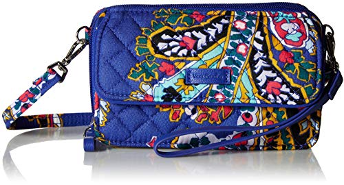 Vera Bradley Iconic RFID All in One Crossbody, Signature Cotton, Romantic Paisley