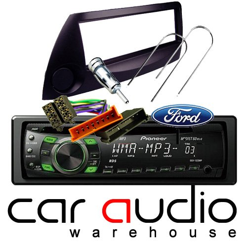 FORD KA BLACK COMPLETE FITTING KIT AND PIONEER CAR STEREO - Includes a Pioneer MP3 Player, Black Facia Adapter, Removal Keys, Aerial Adapter and ISO wiring harness.: Amazon.co.uk: Electronics