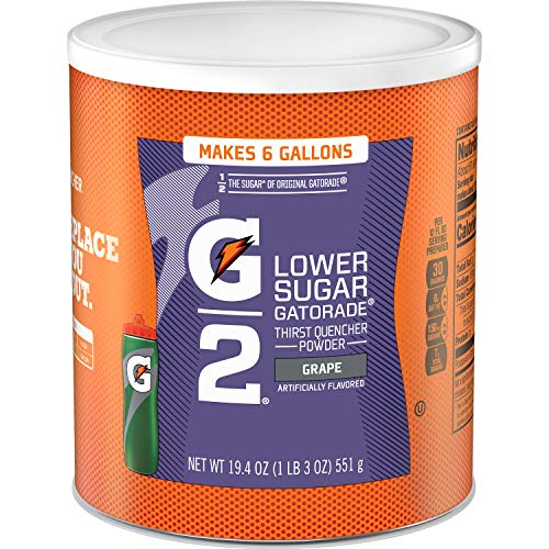 (Gatorade Thirst Quencher Powder, G2 Low Calorie, Grape, 19.4 Ounce, 3 Count)
