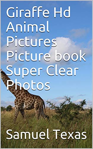 Giraffe Hd Animal Pictures Picture book Super Clear Photos ()