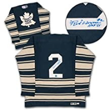 Red Horner Toronto Maple Leafs Autographed 1932 Retro CCM Hockey Sweater - Autographed NHL Jerseys