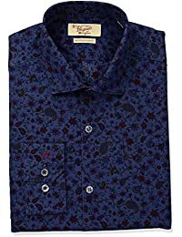 Men's Slim Fit Performance Floral Print Dress Shirt