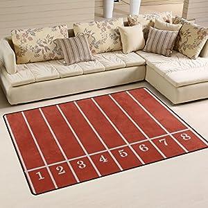 Sunlome Running Track Field Sport Paattern Area Rug Rugs Non-Slip Indoor Outdoor Floor Mat Doormats for Home Decor 31 x…