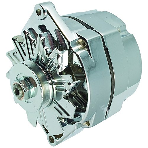 New High Output 110 AMP Alternator Chrome 1 Wire, Self Exciting, Replaces GM Chevy 10 SI 10SI DELCO BBC SBC