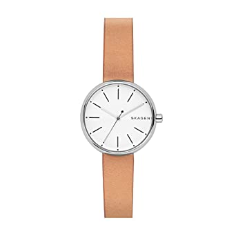 4cb230f6ad2a Amazon.com  Skagen Women s SKW2594 Signatur Brown Leather Watch ...