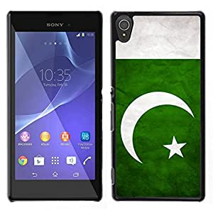 // PHONE CASE GIFT // Duro Estuche protector PC Cáscara Plástico Carcasa Funda Hard Protective Case for Sony Xperia T3 / National Flag Nation Country Pakistan /