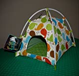 Austin's Parrot Toy Kingdom Colorful Pet Bird Hammock Tent Handcrafted Nesting Tent for your Parrot Bird Companion - Vibrant Fun Fabric Print to Stimulate & Entertain your Pet (Large)