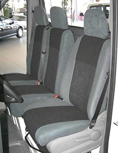 2006-2014 Doppelbank Alcanta Heimsch Design Sitzbezug f/ür Opel Vivaro Bj
