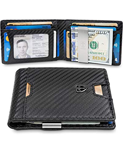 TRAVANDO Slim Wallet with Money Clip RFID Blocking Wallet AUSTIN Credit Card Holder | Travel Wallet | Minimalist Mini Wallet Bifold for Men Mens Mans Gift Box