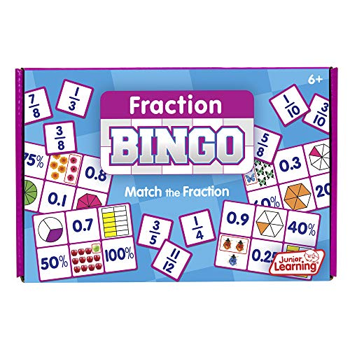 Junior Learning Fraction Bingo Educational Action Games