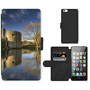 PU Cuir Flip Etui Portefeuille Coque Case Cover véritable Leather Housse Couvrir Couverture Fermeture Magnetique Silicone Support Carte Slots Protection Shell // F00000082 Whittington Whittington castillo // Apple iPhone 5 5S 5G SE