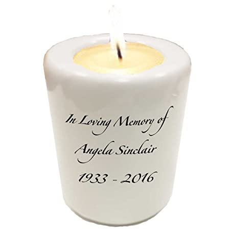 Personalised Memorial Tealight Candle Holder Eternal Memories