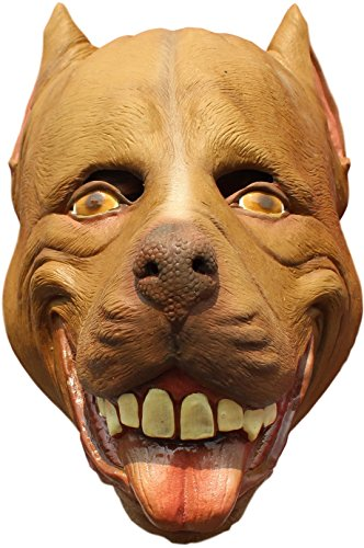 Mad Dogs Latex Masks Adult Size (Choose Race) (Pitbull)