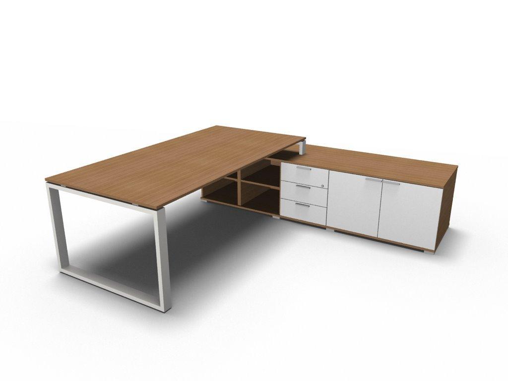 Schreibtisch Mit Sideboard Loopy Chef Schreibtisch Chefburo
