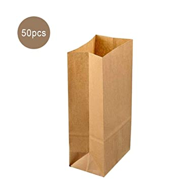 Eruditter Bolsas de Papel Kraft Paper Lunch Bread Bag 50 ...