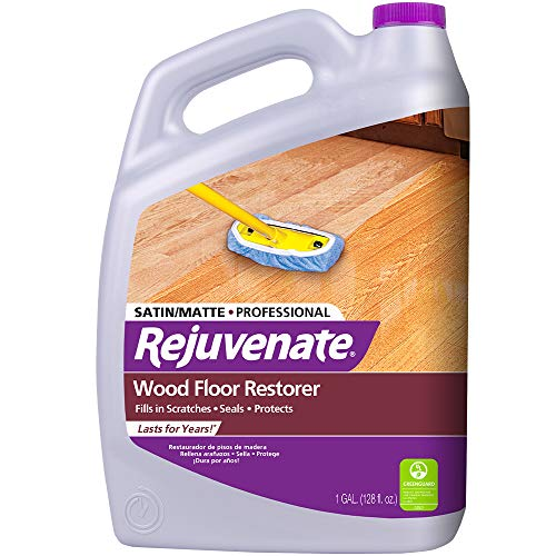 Rejuvenate Professional Wood Floor Restorer with Durable Satin Finish Non-Toxic Easy Mop On Application 1 Gallon