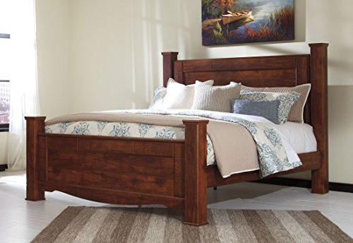 Cal King Poster Bedroom Set (Signature Design by Ashley B265-61 Brittberg Poster Headboard Posts, Queen)