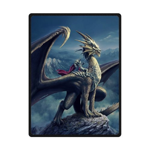 Series Fleece Throw Blanket (magic Dragon,Mysterious Dragon,Fire Breathing Dragon Super Soft Fleece Blankets and throws 58 X 80 inch (Large))