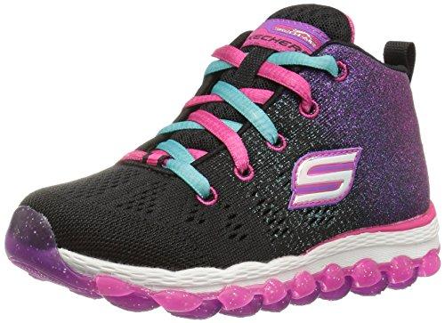 Skechers Kids Girls' Skech-Air Ultra-80014L Sneaker,Black/Pink/Turquoise,