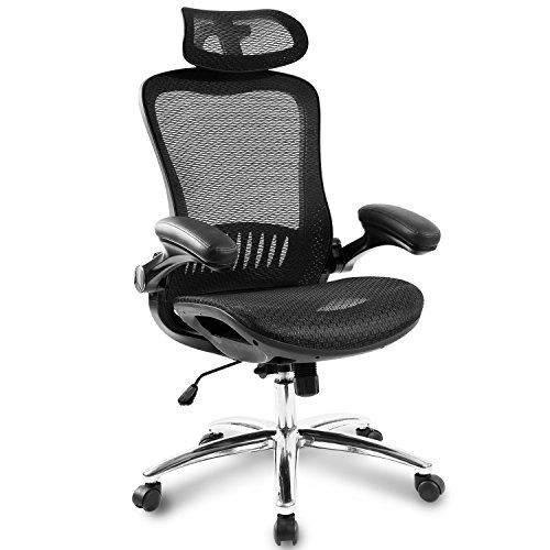 Merax Office Chair Technical Mesh Task Chair Synchronous Mechanism Executive Chair, Black