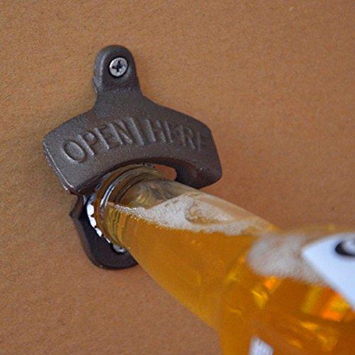 ONEVER Ghisa Parete barra apri di bottiglia per un effetto vintage rustici antichi Openers