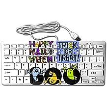 Halloween Clipart USB Wired 78 Keyboard Mini Ultra Slim Noiseless Keyboard For Pc Computer Laptop