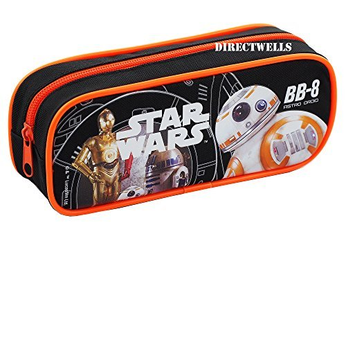 Star Wars Robot BB Character Authentic Licensed Single Zipper Pencil Case -